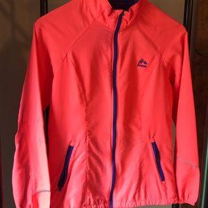 Neon pink track jacket